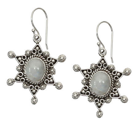 "Novica Artisan Crafted Sterling ""Moon Star"" Earrings"