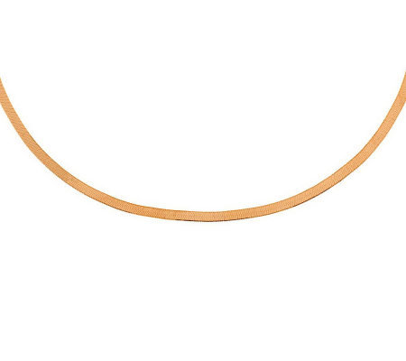 "18"" Polished Herringbone Necklace, 14K Gold4.50g"