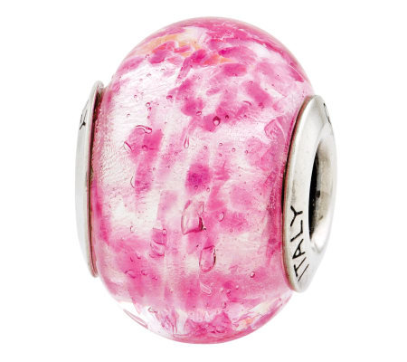 Prerogatives Sterling Pink Italian Murano GlassBead