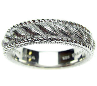 Judith Ripka Sterling Silver Textured Women's Ring - J310564