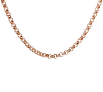 "Bronzo Italia 18"" Polished Rolo Link Necklace - J311764"