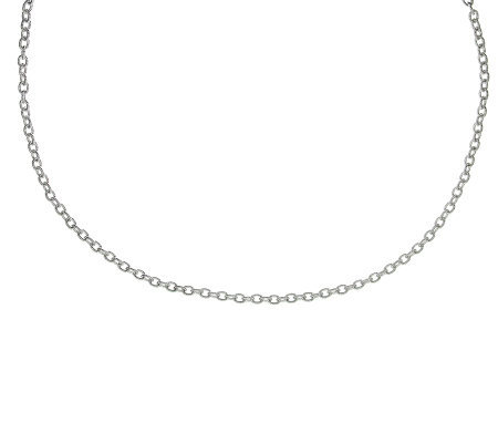 "Judith Ripka Lexington 16"" Chain Necklace, Sterling"