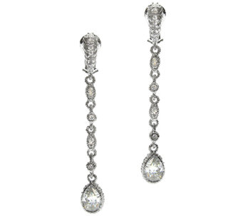 Judith Ripka Sterling 3.00 cttw Diamonique Dangle Earrings - J316164