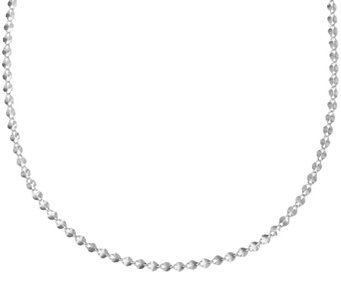 "UltraFine Silver 18"" Polished Double Oval Link Necklace, 3.1g - J321264"