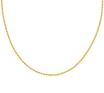 "Vicenza Gold 36"" Rope Chain Necklace 14K Gold, 4.2g - J323964"
