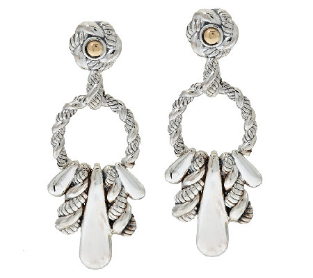 JAI Sterling & 14K Accent Hill Tribe Front Facing Earrings
