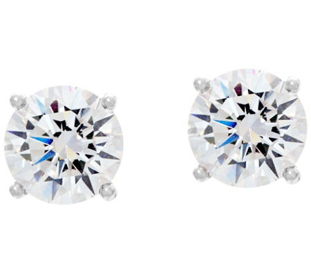 Diamonique 5.00 cttw Round Stud Earrings, Sterling