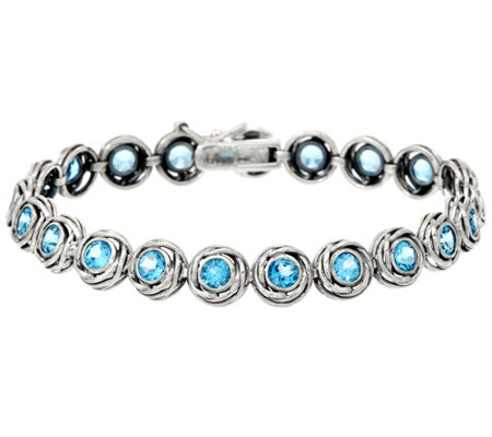"Sterling Silver 4.50 cttw 7-1/4"" Tennis Bracelet by Or Paz"