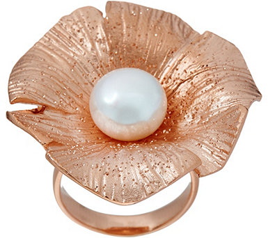Honora Cultured Pearl Sterling Silver Flower Ring - J348364