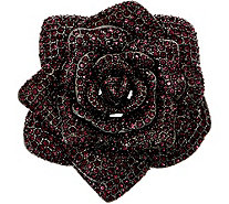 Joan Rivers Lavish Pave' Rose Pin - J349364