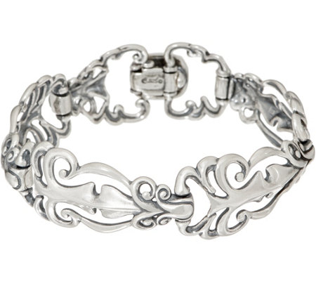 Carolyn Pollack Sterling Silver Country Couture Bracelet 26.0g