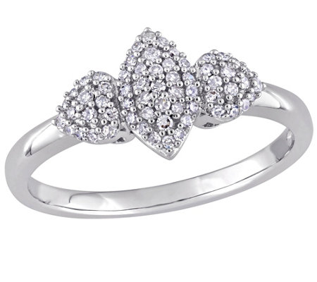 Diamond Marquise & Heart Ring, 14K, 1/5 cttw, by Affinity