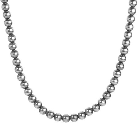 "American West Sterling Beaded 21"" Necklace"