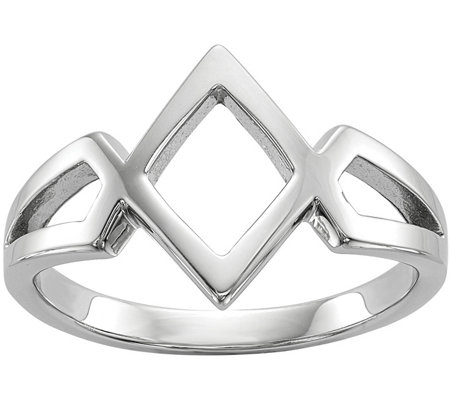 Sterling Rhombus Ring