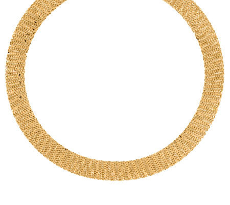 """As Is"" Veronese 18K Clad Woven 18"" Necklace"