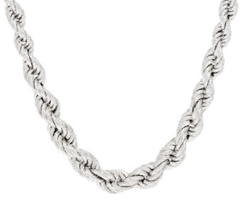 "Bronze 18"" Solid Textured Graduated Rope Necklace by Bronzo Italia - J296365"
