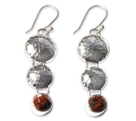 "Novica Artisan Crafted Sterling ""Impressions"" Earrings"