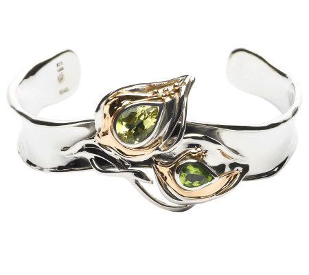 Hagit Gorali 1.90 ct tw Gemstone Cuff, Sterling/14K Gold
