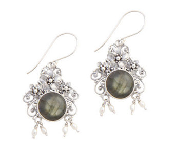 "Novica Artisan Crafted Sterling ""Royal Flower""Earrings - J304065"