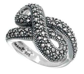 Suspicion Sterling Marcasite Infinity Ring - J304365