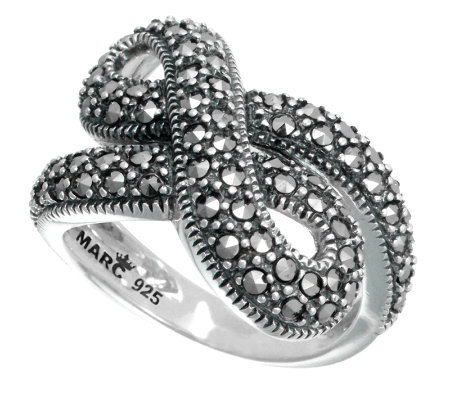 Suspicion Sterling Marcasite Infinity Ring