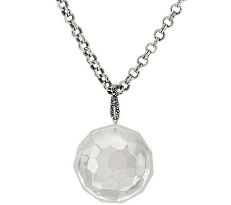 Michael Dawkins Sterling Faceted Pendant on Chain Necklace