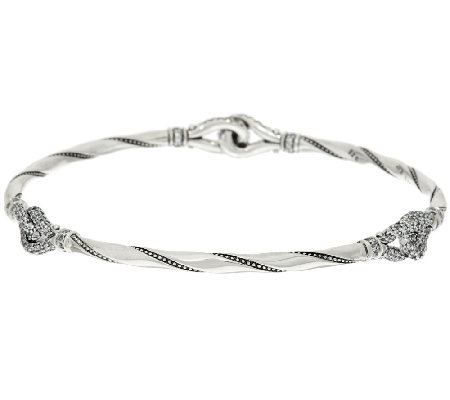 Scott Kay Guardian Pave Diamonique Slip-on Round Station Bangle