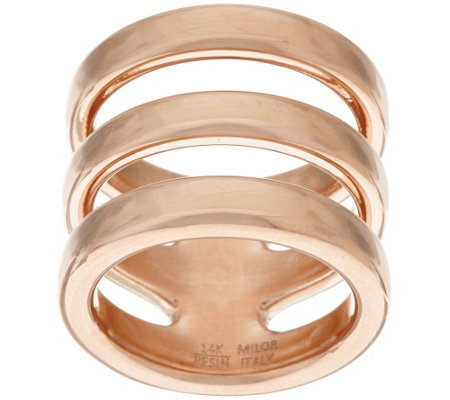 """As Is"" Oro Nuovo Polished Open Triple Band Ring, 14K"