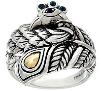 JAI Sterling & 14K Yellow Gold Gemstone Accent Peacock Ring - J329265