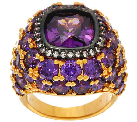 The Elizabeth Taylor 12 ct Simulated Amethyst Ring