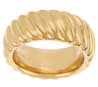 """As Is"" Oro Nuovo Bold Polished Ribbed Ring - J331465"