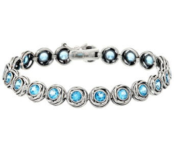 "Sterling Silver 4.80 cttw 8"" Tennis Bracelet by Or Paz - J331665"