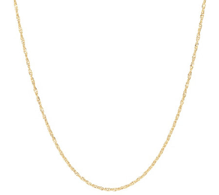 "36"" Polished Singapore Chain, 14K Gold"