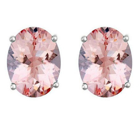 Premier 1.75 cttw Oval Morganite Stud Earrings,14K