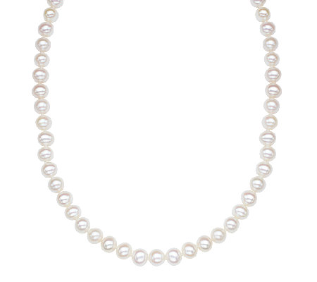 "Honora Classic 7-8mm Cultured Pearl 18"" Necklace, Sterling"