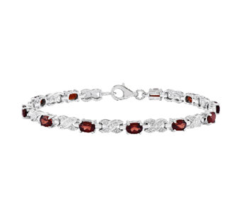 "Sterling 7-1/2"" Choice of Gemstone X-Link Tenni s Bracelet - J336765"