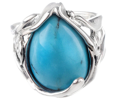 Hagit Sterling Silver Turquoise Cabochon Ring