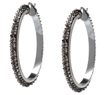 Vicenza Silver Sterling Margherita Chain Round Hoop Earrings - J340965