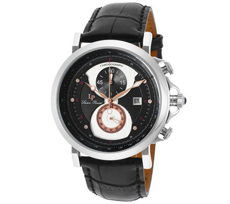 Lucien Piccard Men's Pegasus ChronographLeather Watch