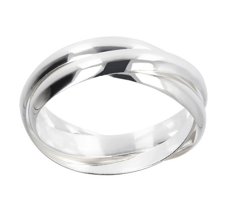 UltraFine Silver Polished Rolling Ring