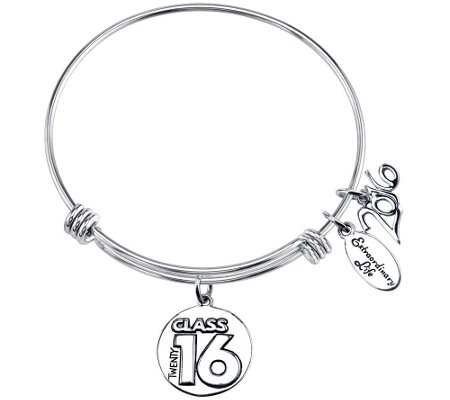 Extraordinary Life Sterling Class of 2016 Adj.Bangle
