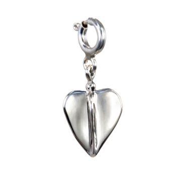 Hagit Sterling Dimensional Heart Charm