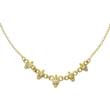 Judith Ripka 14K Gold 3/8 cttw Diamond Necklace