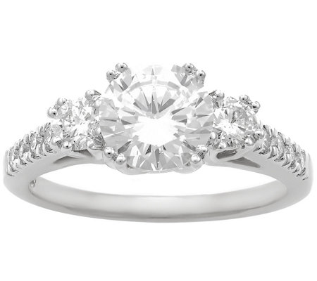3-Stone Diamond Bridal Ring, 14K, 2.00cttw by Affinity