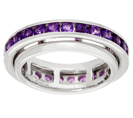 Gemstone Sterling Silver Spinner Ring 1.20 cttw