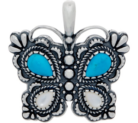 American West Turquoise and Mother of Pearl Butterfly Enhancer
