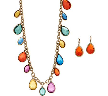 Linea by Louis Dell'Olio Confetti Necklace and Earring Set