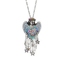 Kirks Folly Celestial Angel Heart Pin Pendant with Chain - J353065