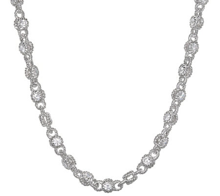"Judith Ripka Sterling Silver & Diamonique Rolling 18"" Necklace"