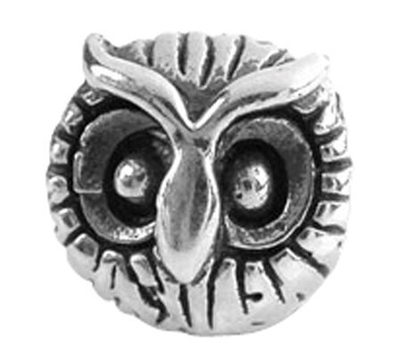 Prerogatives Sterling Owl Head Bead